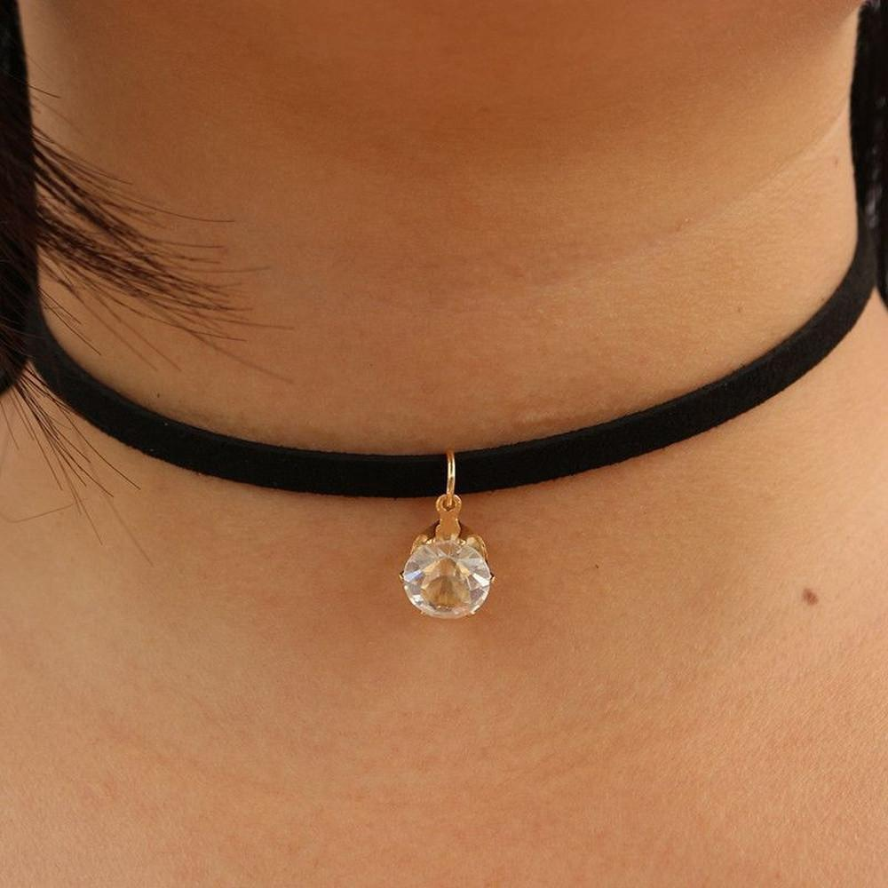 Dew Drop Suede Choker