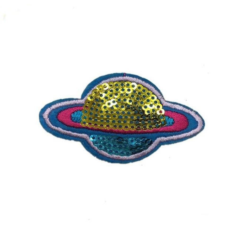 Sequin Planet Iron-On Patch