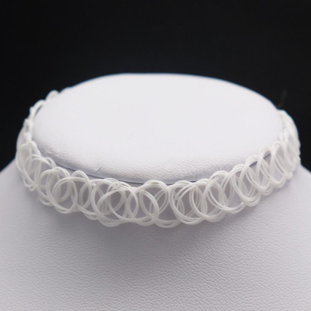 White Tattoo Choker