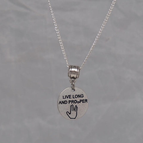 Live Long and Prosper Necklace