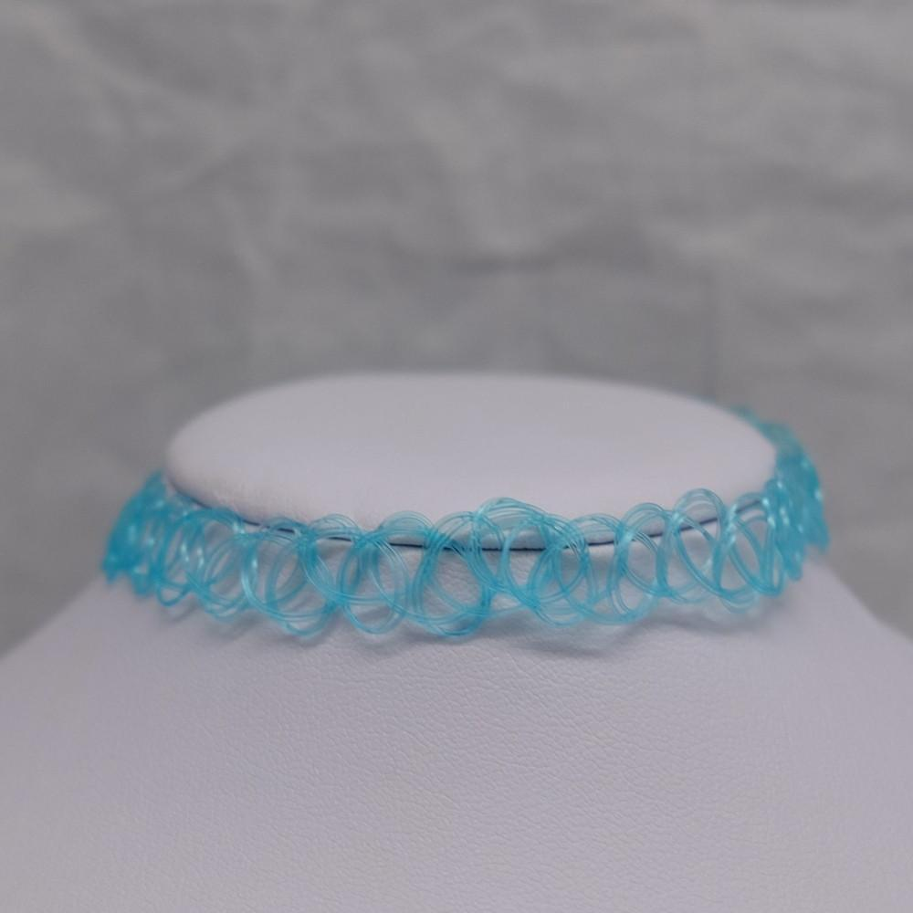 Light Blue Tattoo Choker
