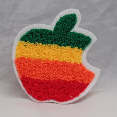 Chenille Apple Patch