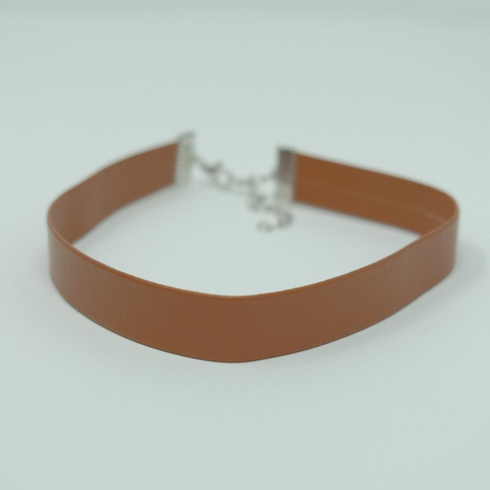 Mocha Vegan Leather Choker