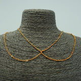 Intertwining Chains Necklace