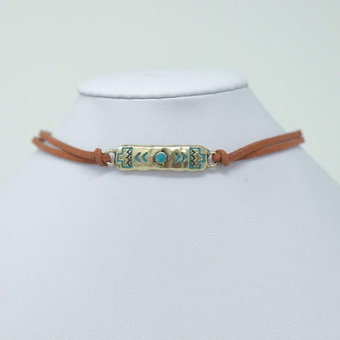Turquoise Plate Choker