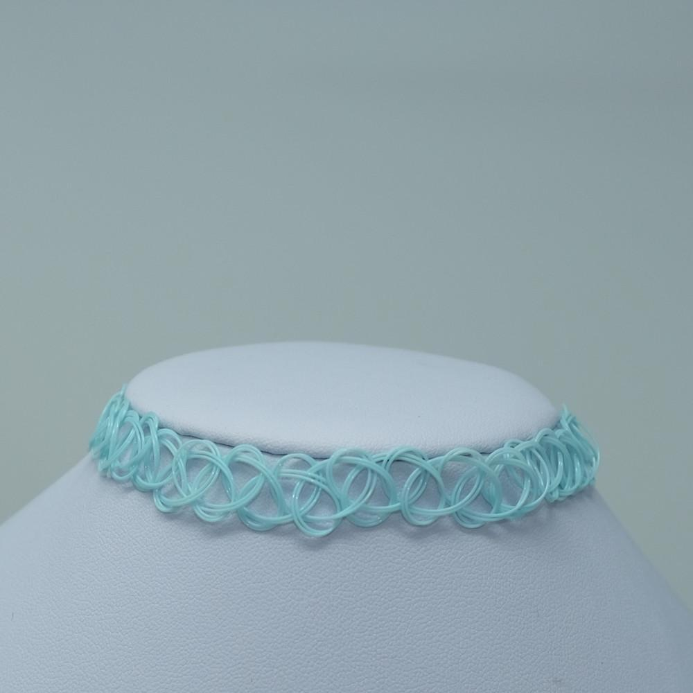 Robin's Egg Solid Tattoo Choker