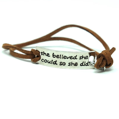 She Believed Bracelet