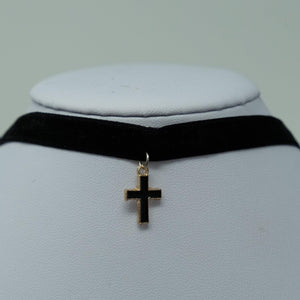 Velvet Cross Choker