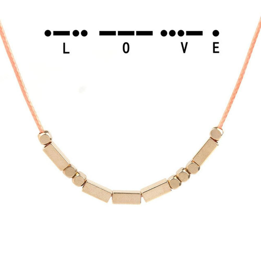 Love Morse Code Necklace