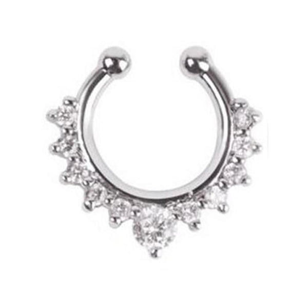 Crystal Faux Septum Ring