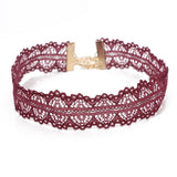 Seeing Double Burgundy Lace Choker