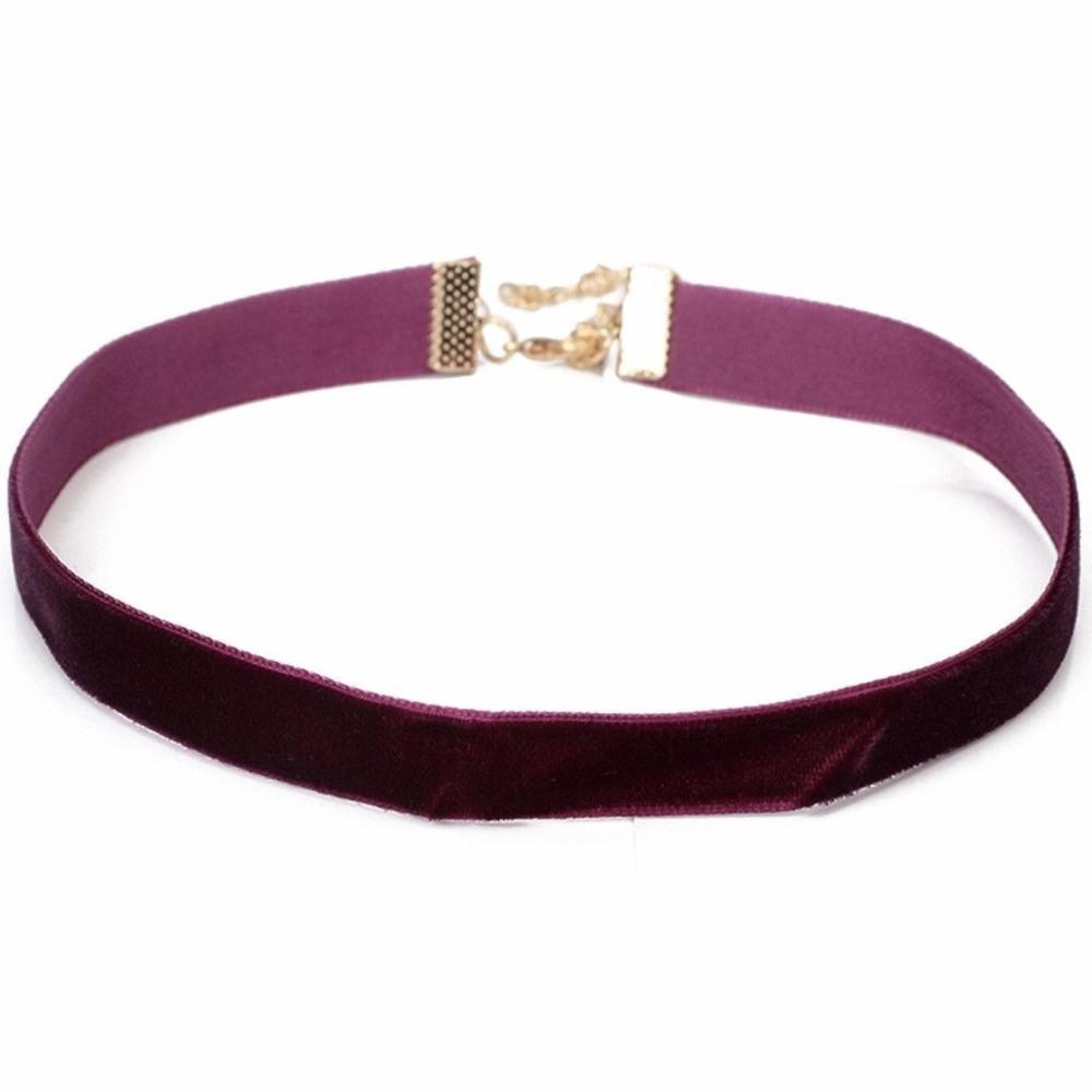 Purple Velvet Choker