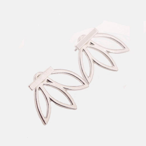 Leaf Jacket Earrings