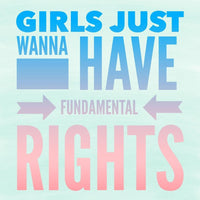 Girl's Just Wanna Have Fundamental Rights Sticker