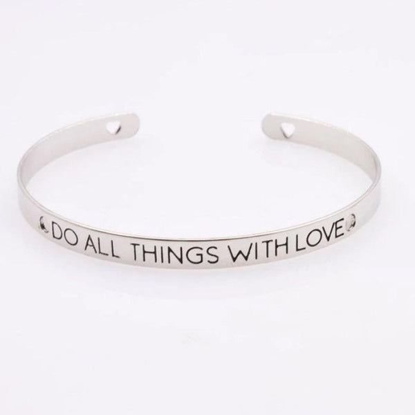 Do All Things With Love Bracelet