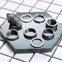 Carved Ring Set