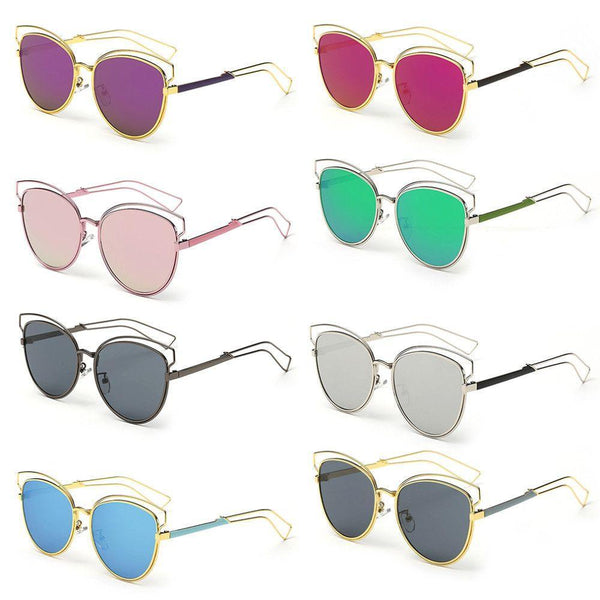 Structured Metallic Sunglasses