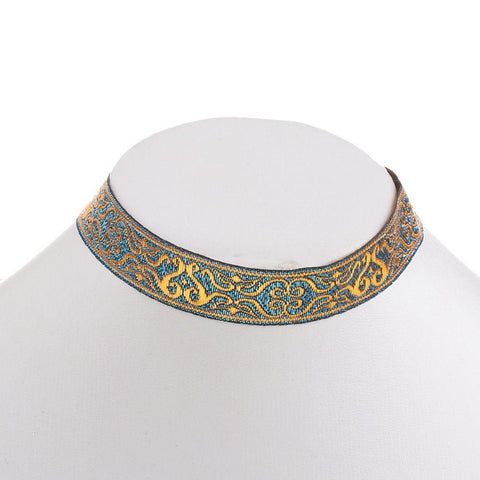 Bianca Embroidered Choker