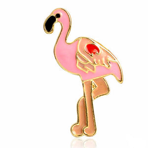 Flamingo in the Sun Pin