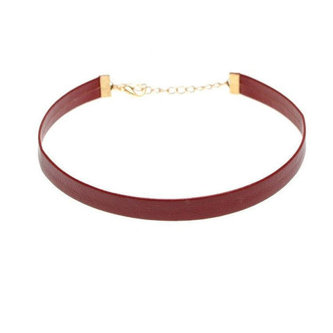 Merlot Vegan Leather Choker