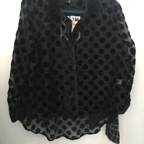 XS NEW MINK PINK VELVET BUTTON DOWN