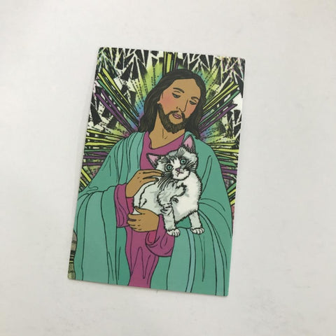 Cat Jesus Sticker