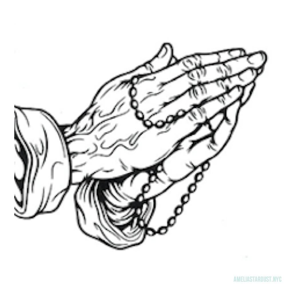 Praying Hands Temporary Tattoo