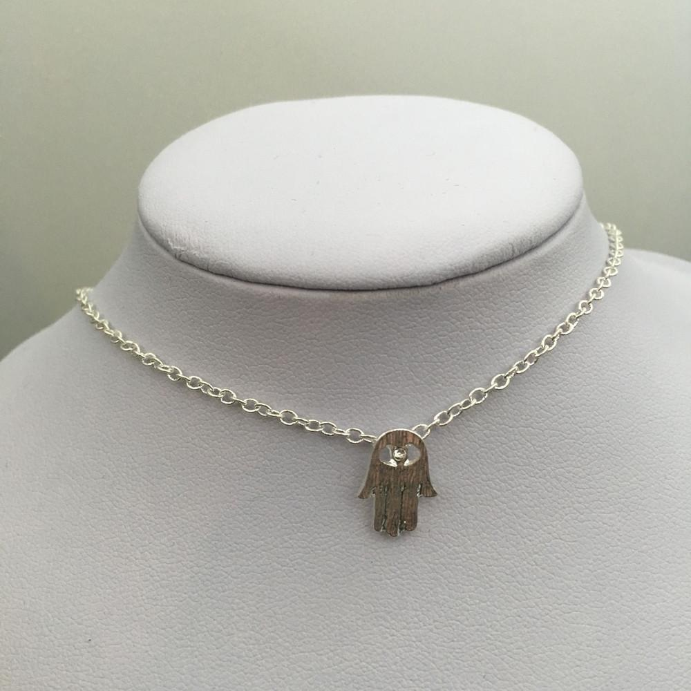 Crystal Hamsa Necklace
