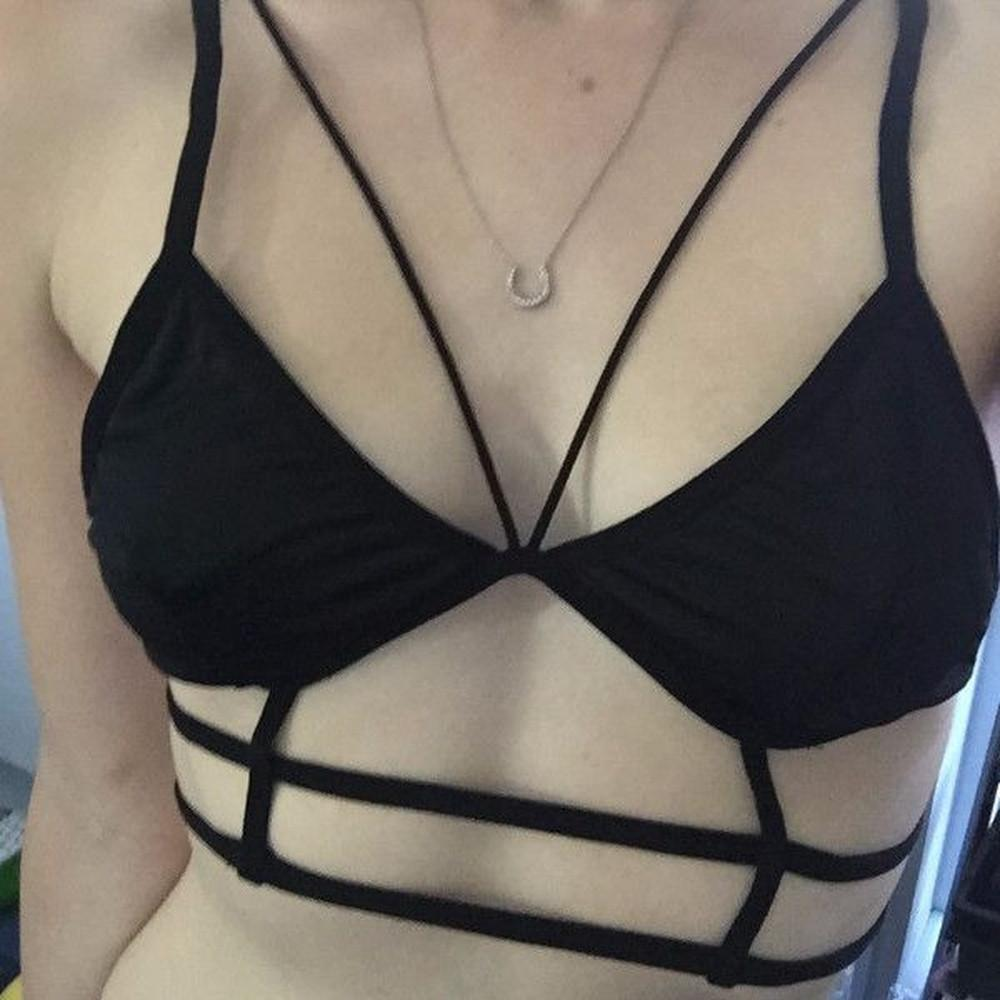 Strappy Black Cage Bra