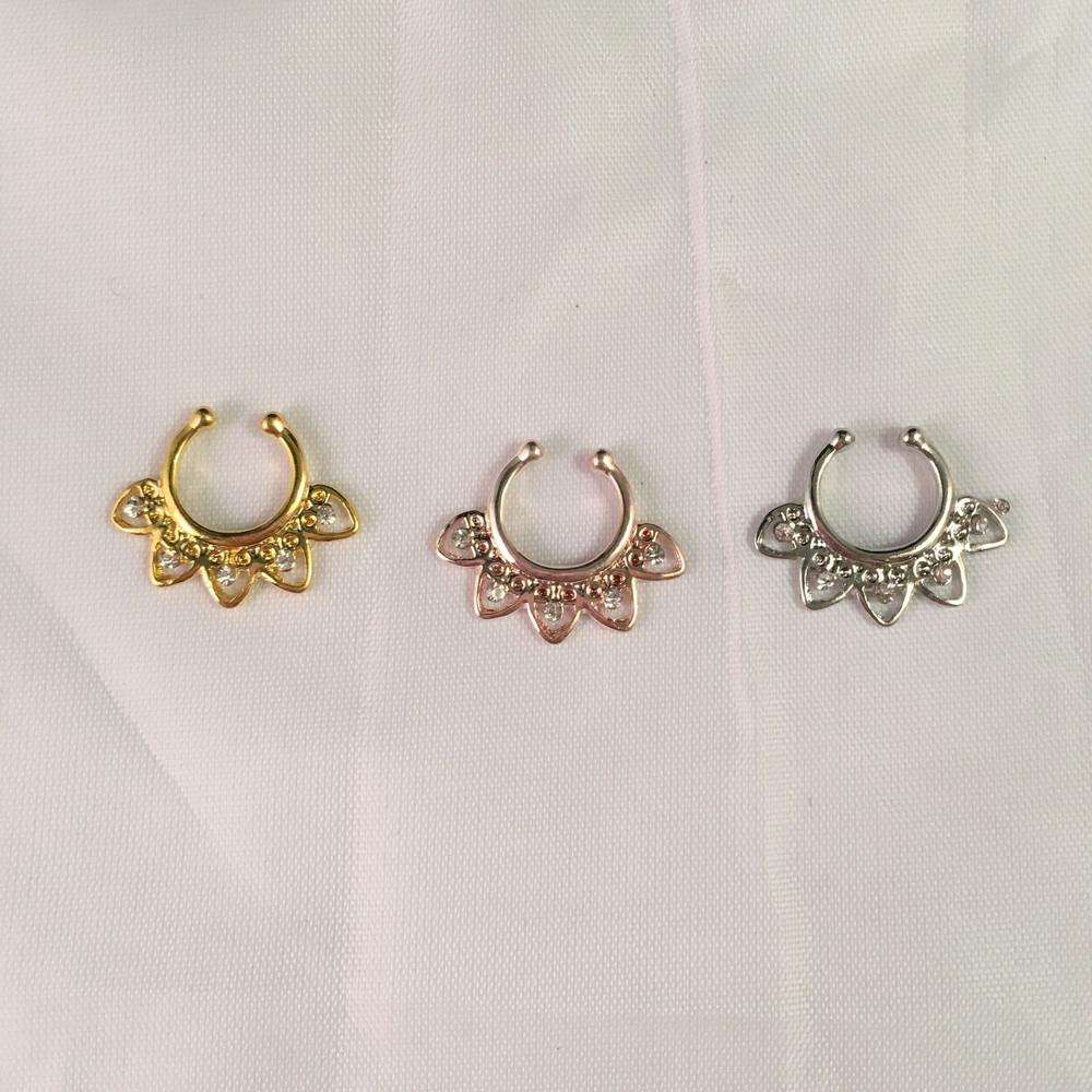 Embellished Faux Septum Ring