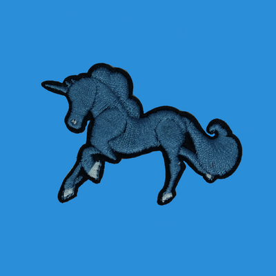 Blue Unicorn Patch