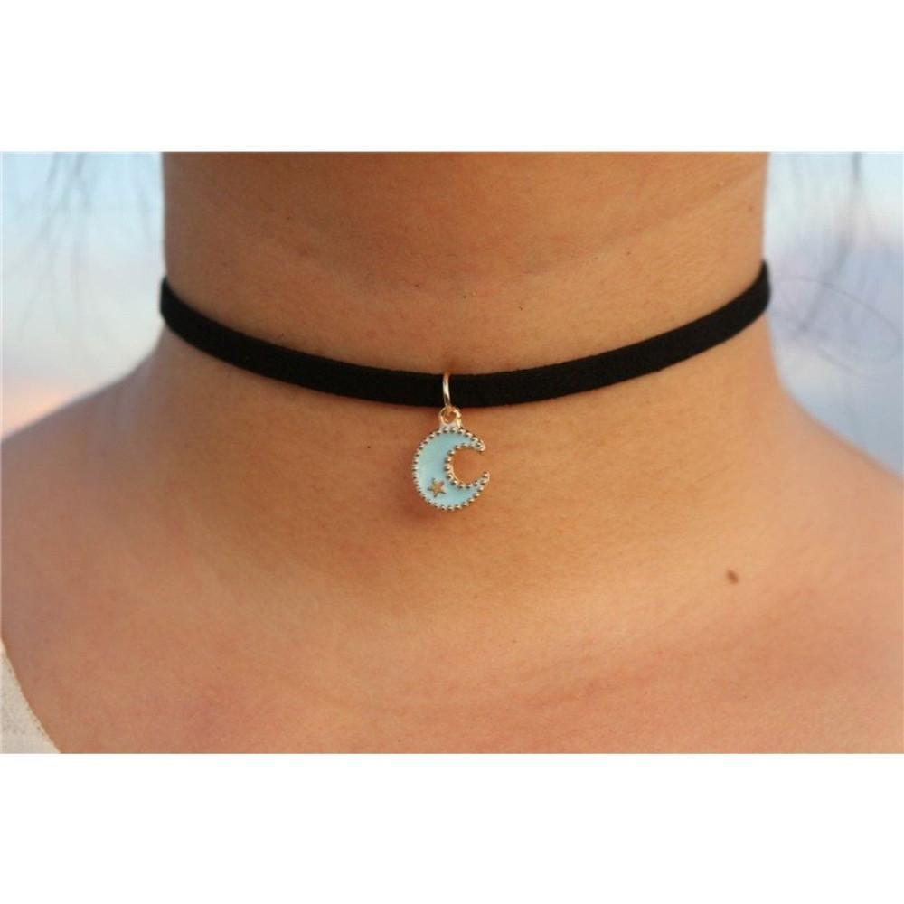Blue Moon Suede Choker