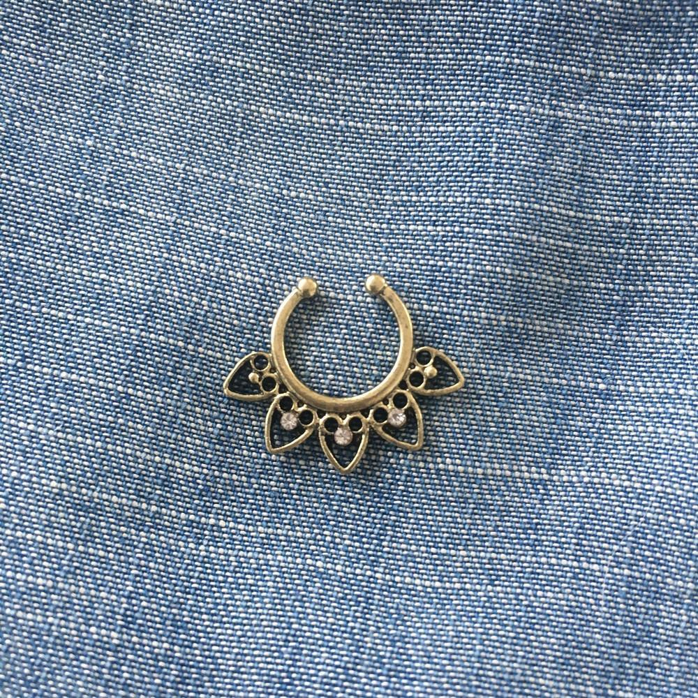 Bronze Faux Septum Ring