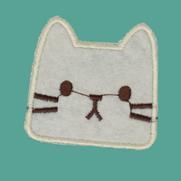 Cream Cat Patch