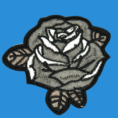 Gothic Rose Iron On Patch