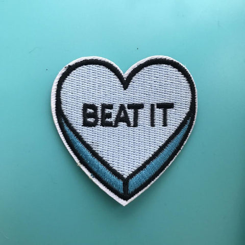 Beat It Iron On Patch