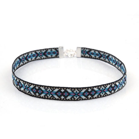 Bluesy Pattern Choker