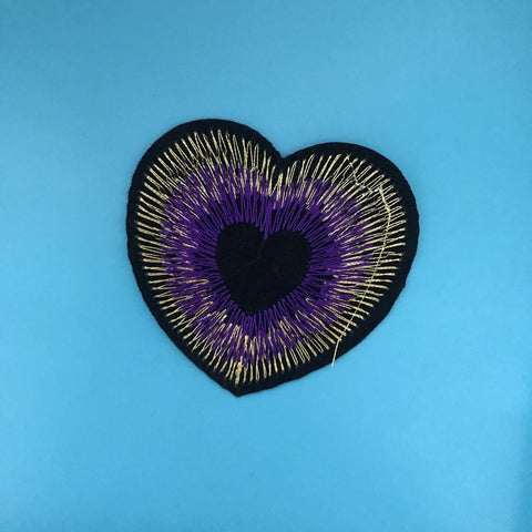 Peacock Heart Patch
