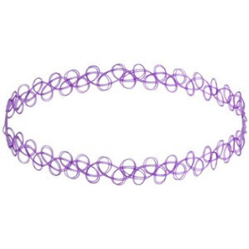 Purple Translucent Tattoo Choker