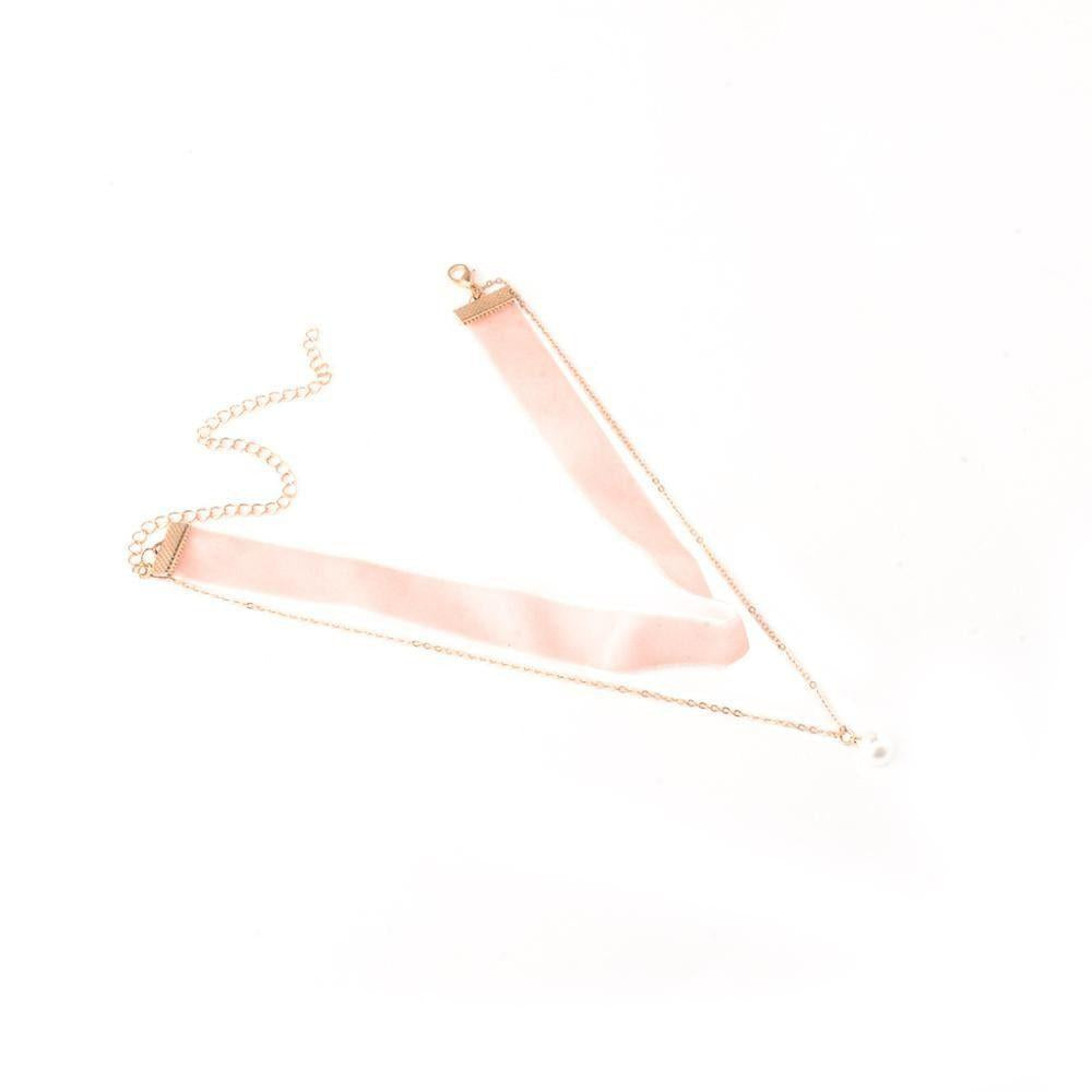Blush Double Choker