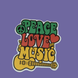 Peace Love Music Sticker