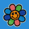 Rainbow Flower Iron-On Patch