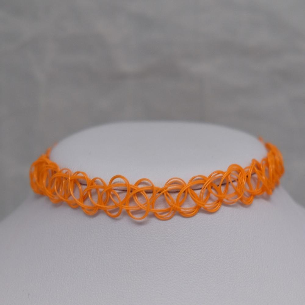 Solid Orange Tattoo Choker