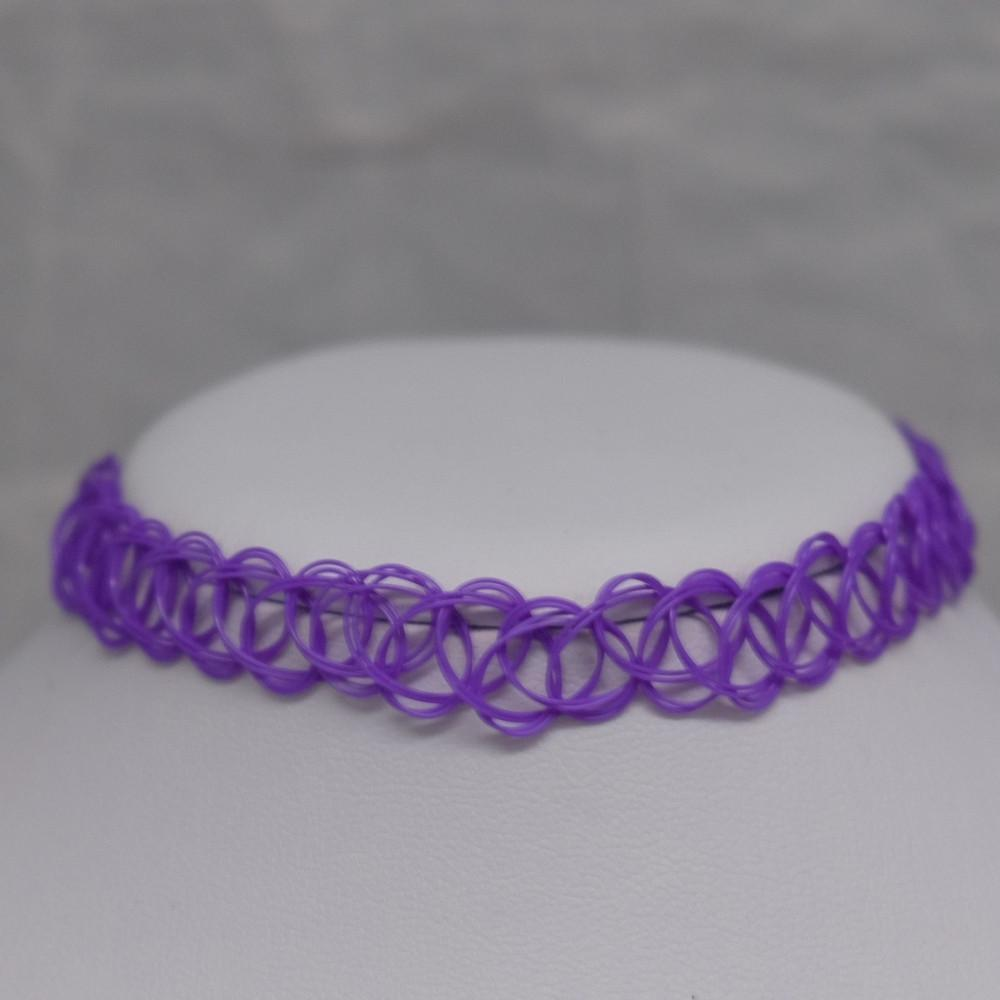 Solid Purple Tattoo Choker