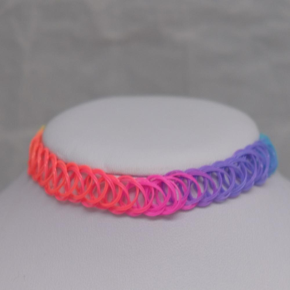 Solid Rainbow Tattoo Choker