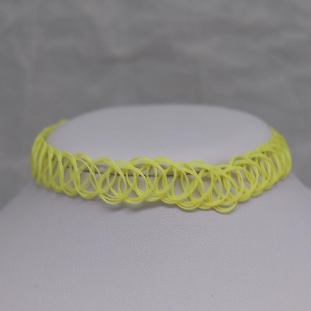 Solid Yellow Tattoo Choker