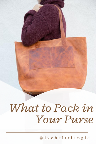 What to Pack in Your Purse www.ixcheltriangle.com