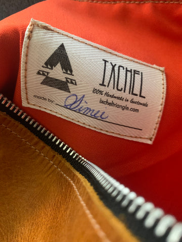 Every Ixchel Triangle bag is personally signed by the maker www.ixcheltriangle.com