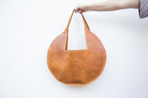 Ethically Made Leather Sutim Bag