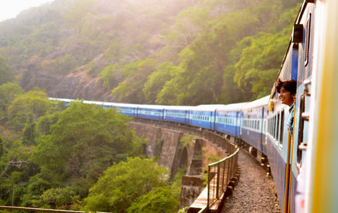 sustainable travel by train